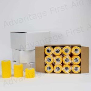Yellow Cohesive Bandages