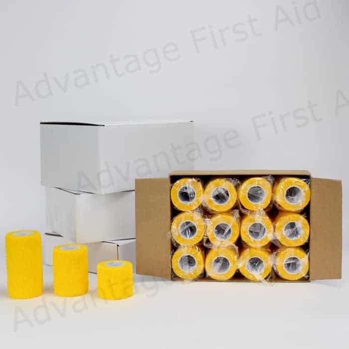 Yellow Cohesive Bandages