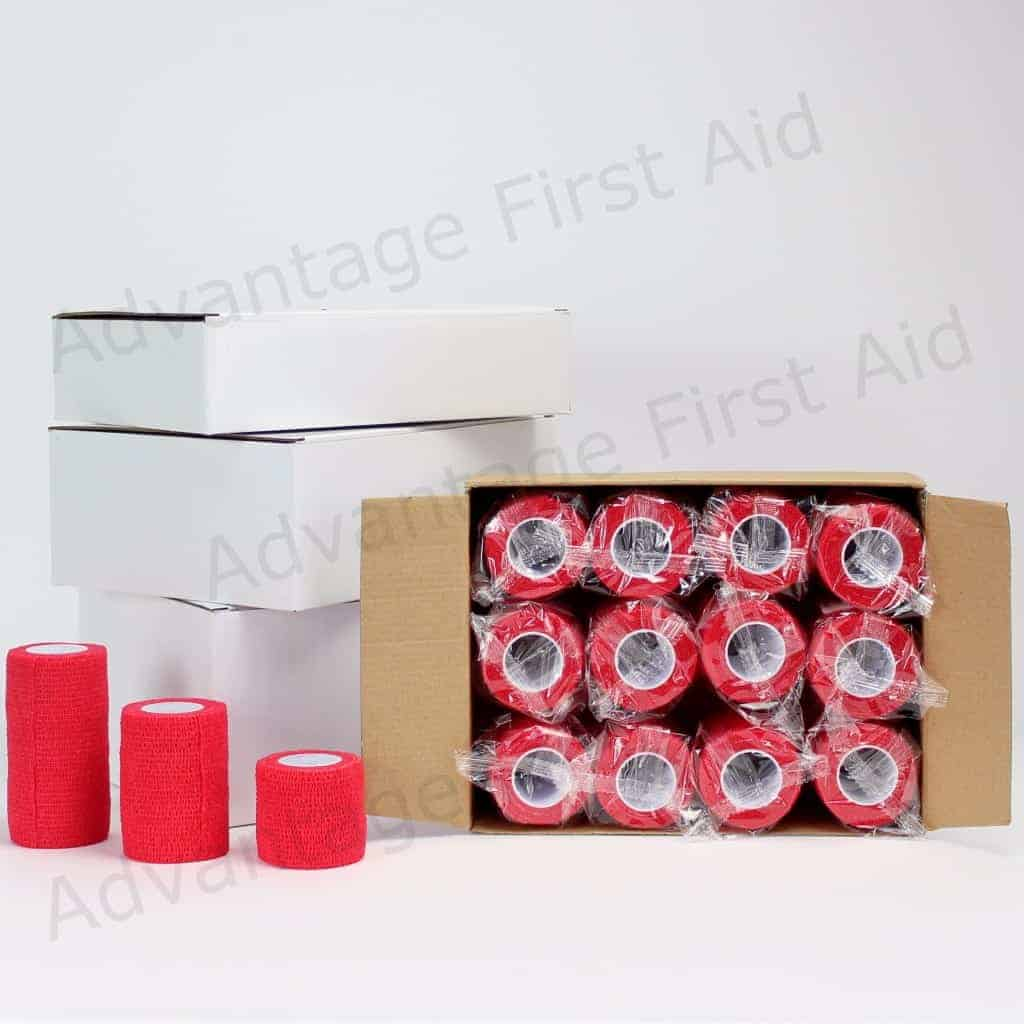 Red Cohesive Bandage