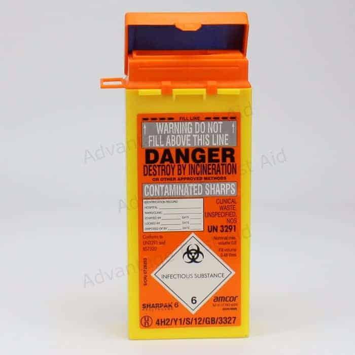 Orange Sharps Disposal