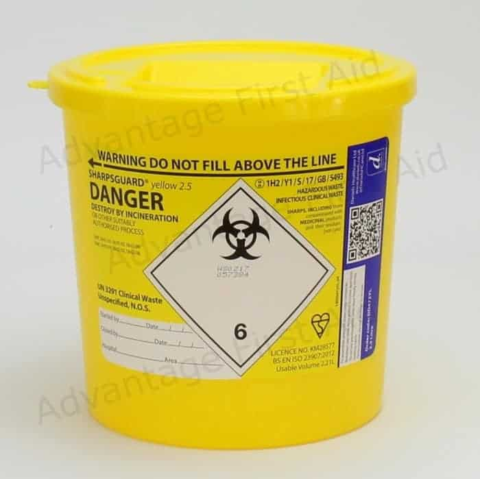 Round Yellow Sharps Disposal
