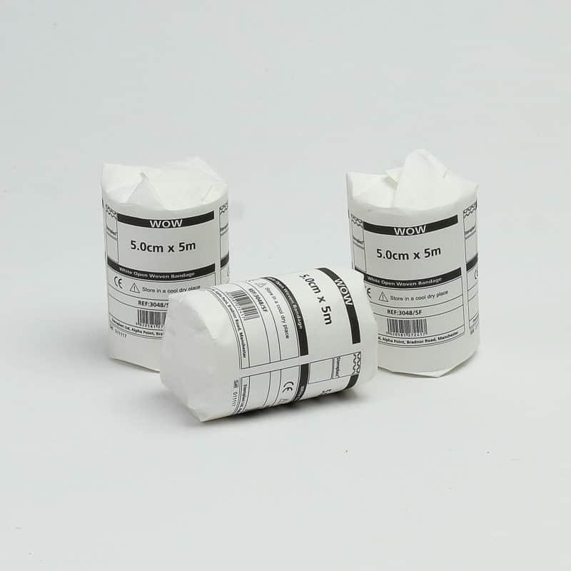 White Open Weave Bandage